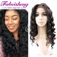 2017 top sale virgin human silky hair free lace wig samples loose wave curly full lace wigs