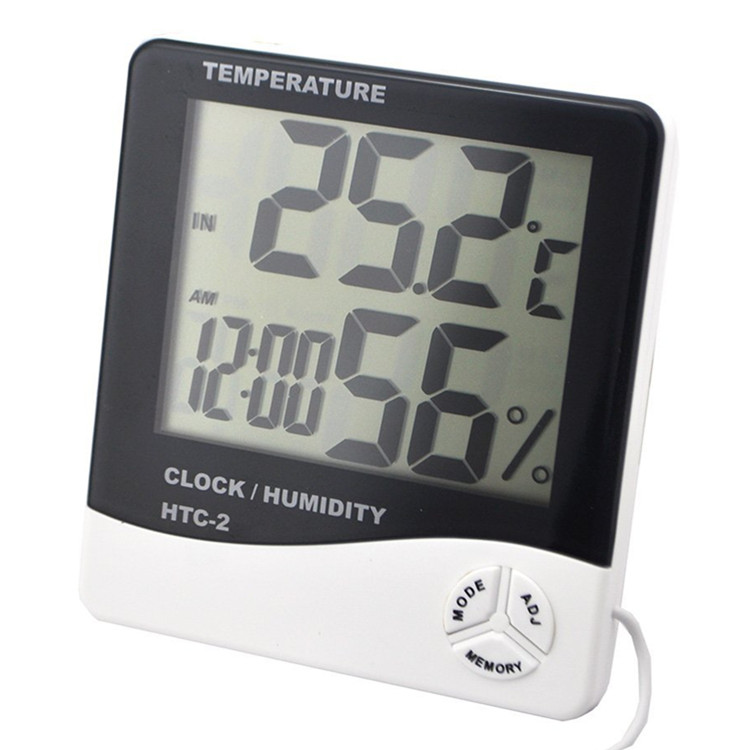 indoor&outdoor max min digital thermo-hygrometer clock