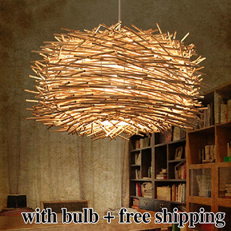 Novelty Nordic Lamp Creative Wood Pendant Lights 220v E27
