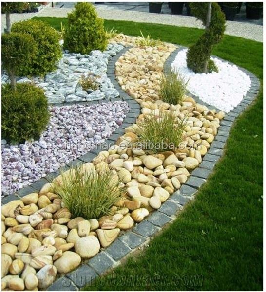 pietra bianca di ghiaia giardino decorazione ciottoli