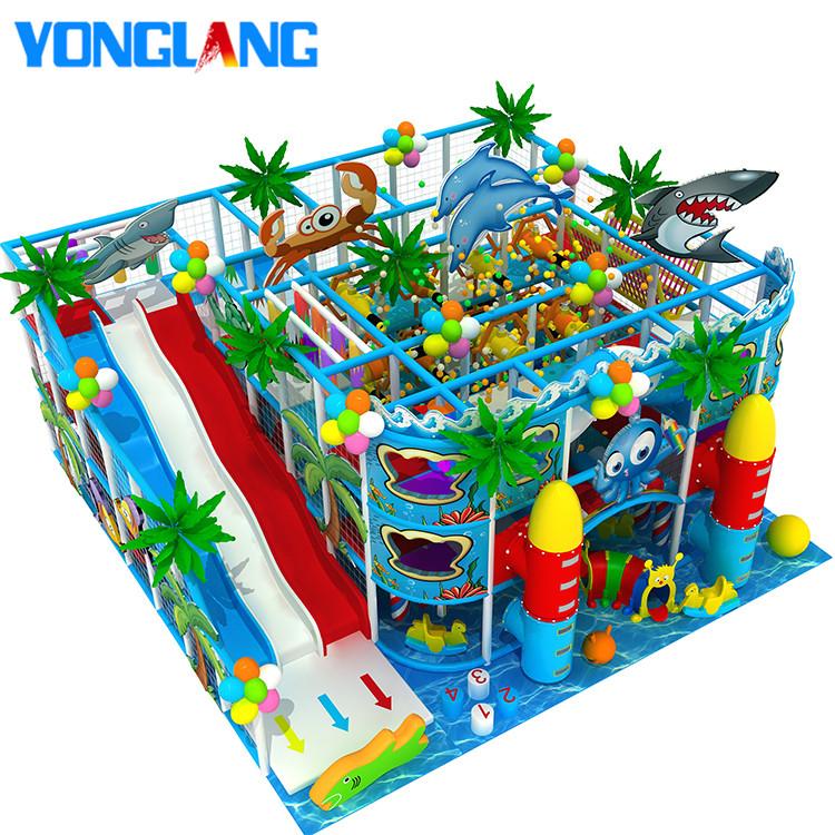 Onderwater Wereld Serie Kinderen Commerciële Indoor Speeltuin Springkastelen Apparatuur