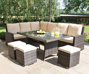 New style outdoor rattan furniture restaurant rattan sofa garden wicker sofa sets