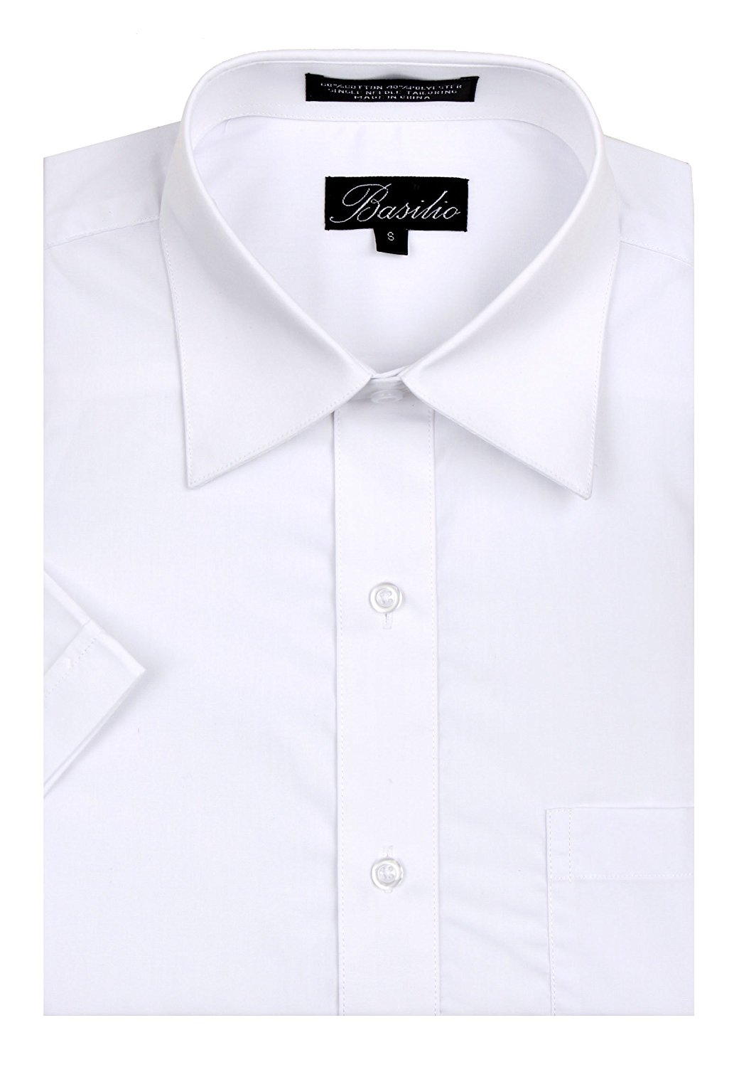 465665b6 Get Quotations · Basilio Men's Short Sleeve Solid Dress Shirt - Many Colors  Available