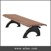 Arlau outdoor wood bench, antique backless wooden bench chair