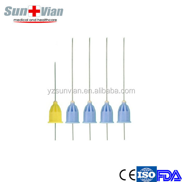 Color Coded Disposable medical Sterile Dental needle of 25mm 38mm