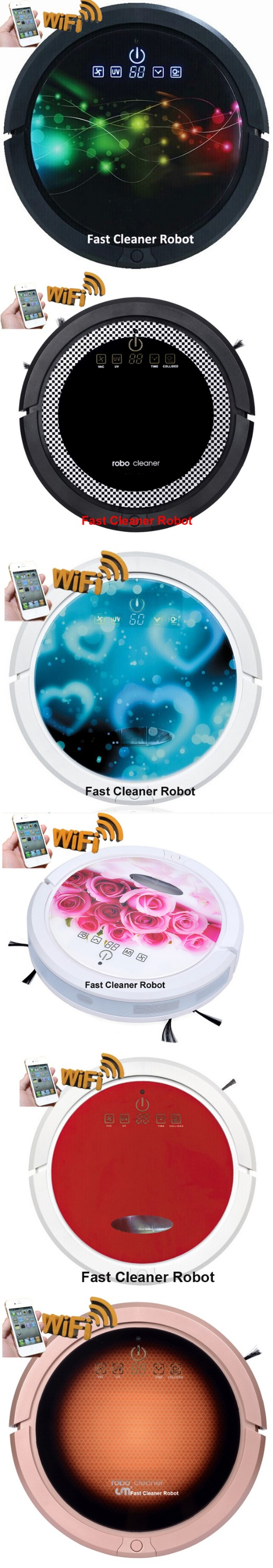 2018 Newest Smartphone WIFI APP Control Cordless Wet and Dry Vacuum Cleaner Robot With Water Tank