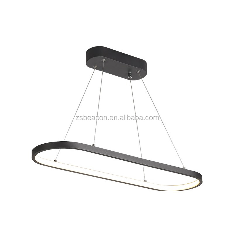 New design aluminum art decoration Led oval track runway remote control dimmer No RF interference Warranty 5 years