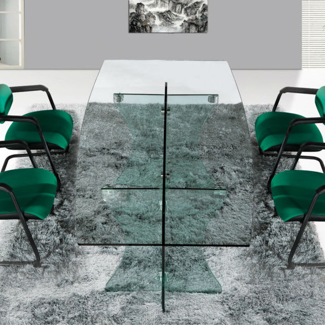 Black Conference Table,pop Up For Conference Table,frosted Glass Conference  Table Top MR