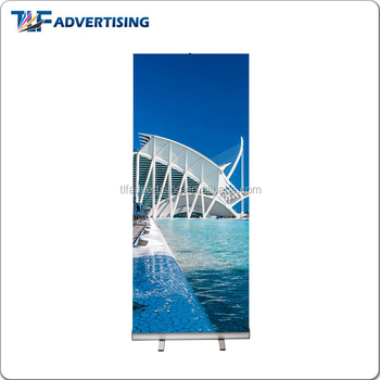 Double sided full color printed retractable banner stand