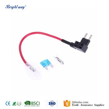 12v 15a plastic add circuit mini blade fuse box holder red wire 12v 15a plastic add circuit mini blade fuse box holder red wire