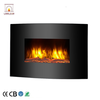 New Design 23 Wall Mounted Tempered Gl Electric Fireplace With Led Lights Radiant Heater Hung Fire