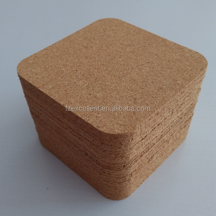 Square Waterproofing Custom Logo Printing Wooden Mdf Wholesale Blank Cork Coasters Sets