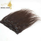 120-130 gram per pack top quality virgin Brazilian hair clip in hair extensions for black women