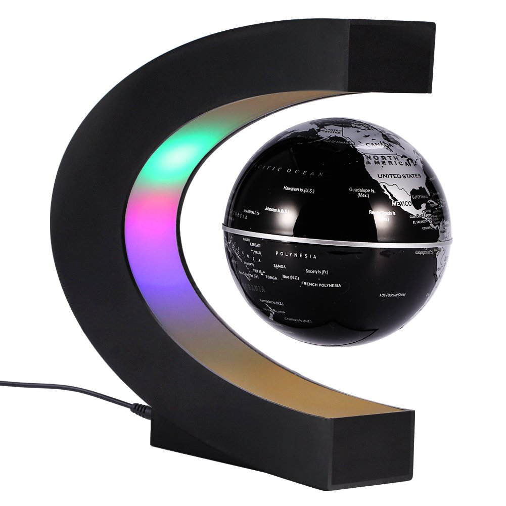 Buy c shape floating globe led lights magnetic field levitation c shape floating globe led lights magnetic field levitation world map globe gravity educational christmas gumiabroncs Choice Image