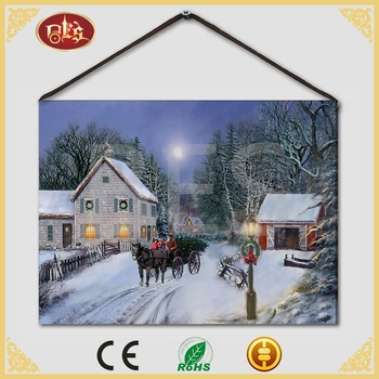 Bes Gift Animal Snow Horse Oil Painting On Canvas