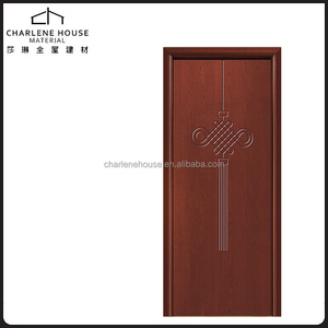Chinese knot pattern carving timber door designs