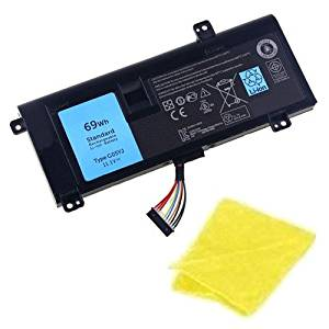amsahr® Replacement Battery for Dell G05YJ, 08X70T, 8X70T, Y3PN0 (11.1V, 69WH) - Includes Cleaning Cloth