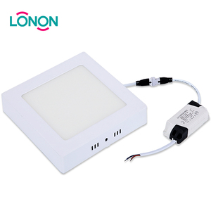 Factory Direct Sale Plastic Lamp Shade Surface Mounted 12w super slim LED panel light