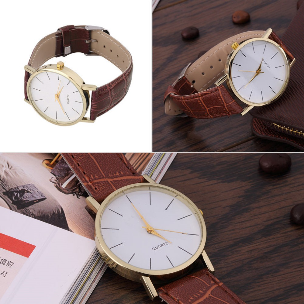 2018 Cheap Price Wach Unisex Hand Clock Vintage Slim Stone ...