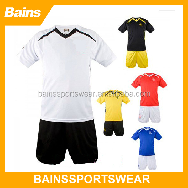 Cheap blank club football jersey,Plain jersey football,Simply style football jersey set