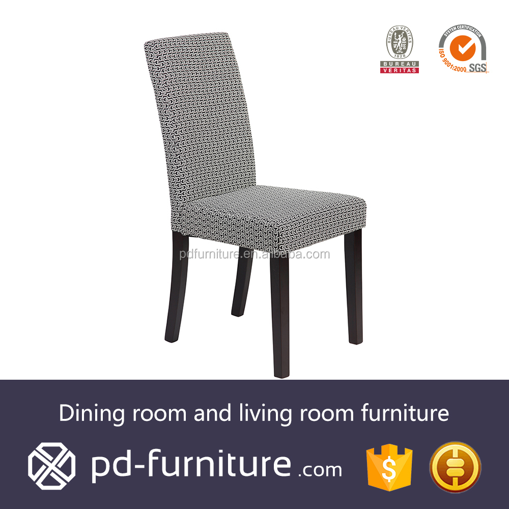 Fashion chair dining room wood upholstered fabric dinning chair
