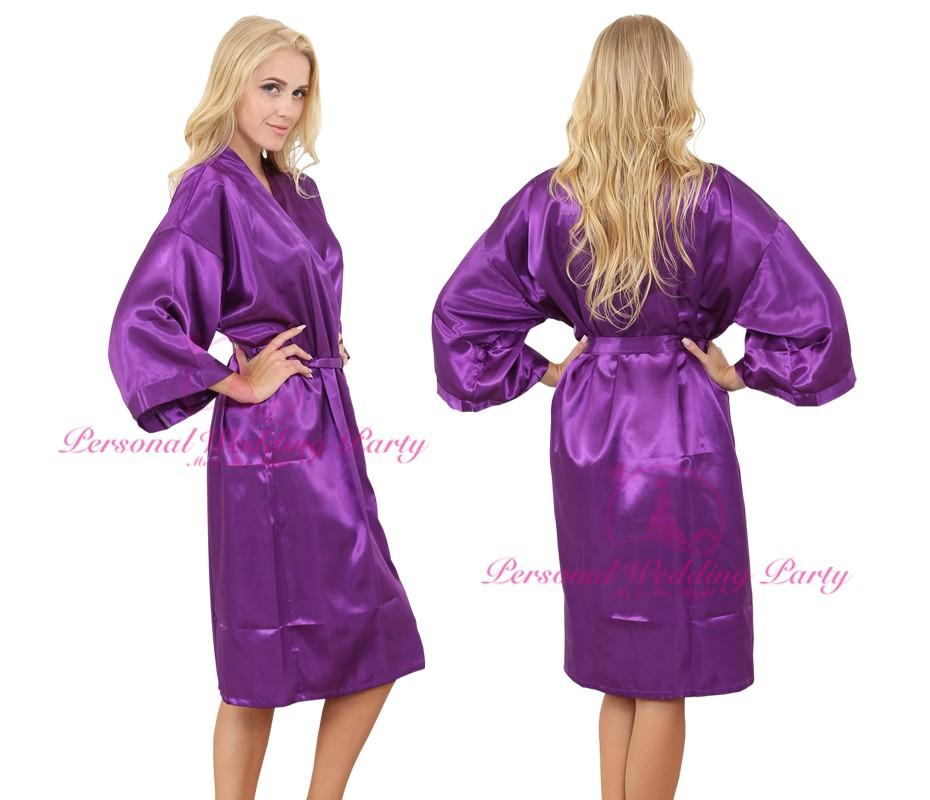 69784bf776 Wholesale- Fashion Long Size Sexy Robe Satin Soft Gown Wedding ...