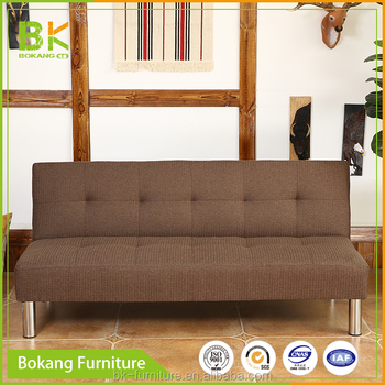 Folded Sofa Bed Small Apartment Living Room Solid Wood Three People