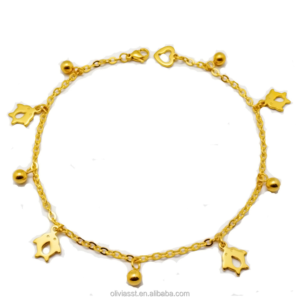 315ef7f8c3e60 Wholesale Custom Beautiful Latest Design Cuban Link Charms 18k Gold Chain  Anklet For Women - Buy Gold Anklet,18k Gold Anklet,Chain Anklet Product on  ...