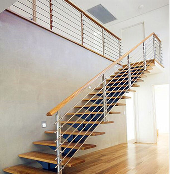 Open Riser Stairs Solid Wood Tread Straight Staircase Buy Prefabricated Stairs Outdoorindooru Shaped Wood Staircaseindoor Solid Wood Staircase