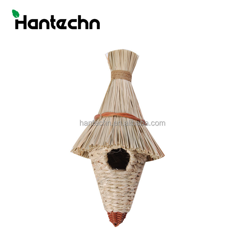2017 New Natural grass woven hanging birds nest cages for sale