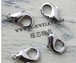 Wholesale Jewelry Clasps Lobster Clasps 12mm & 10mm Nickel Lead Free Silver Color