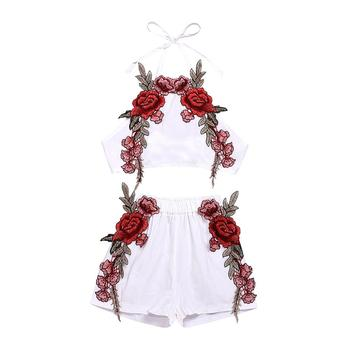 New Fashion Kid Baby Girl Suit Floral Clothes Set