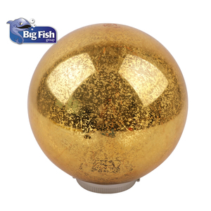 Fairy Twinkle Solar Golden Plastic Ball LED Lights For Garden