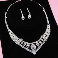 regal rhinestone pageant jewelry necklace set