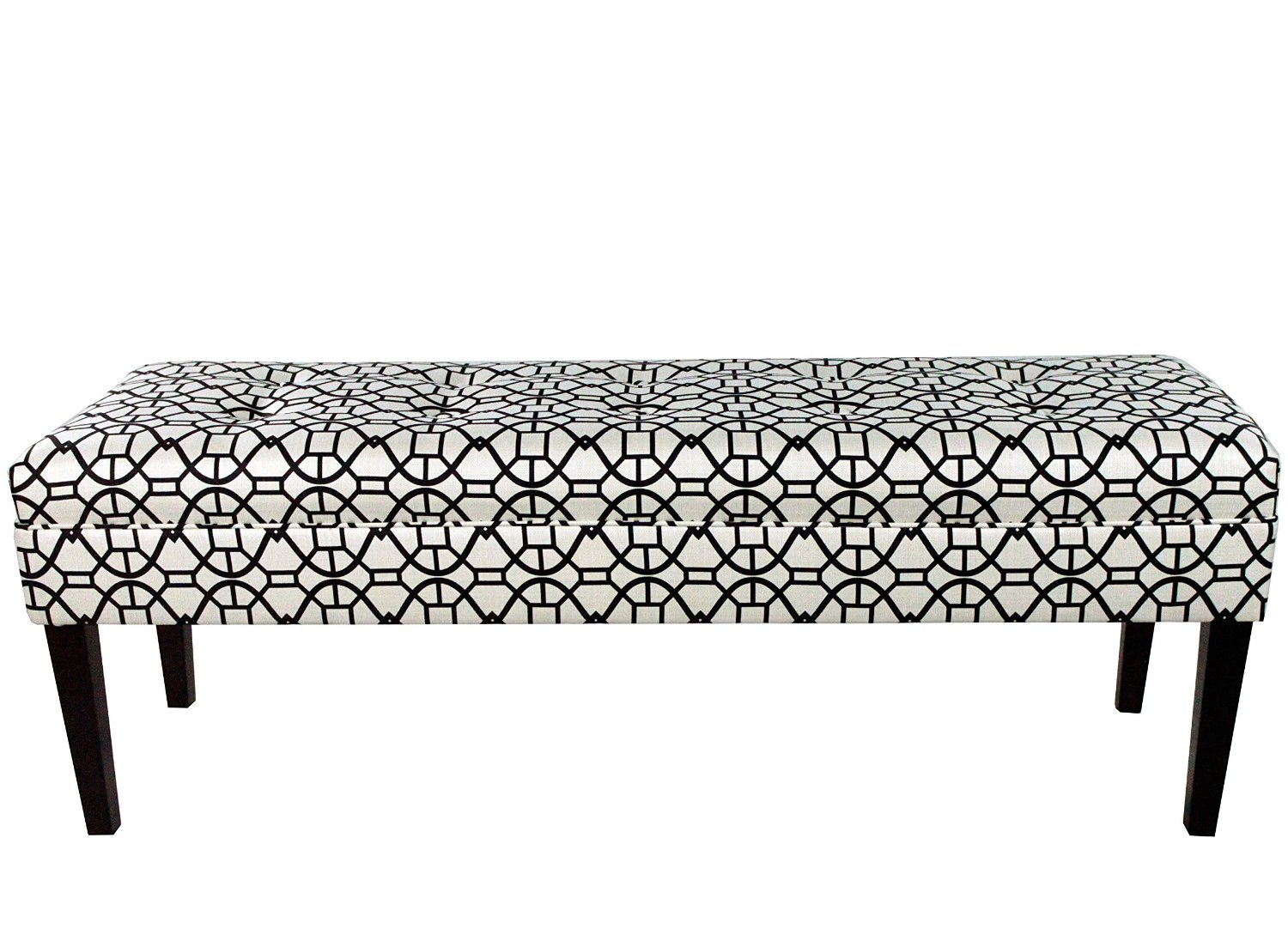 MJL Furniture Designs Kaya Collection Upholstered and Padded Button Tufted Accent Bedroom Bench, Noah Series, Windsor