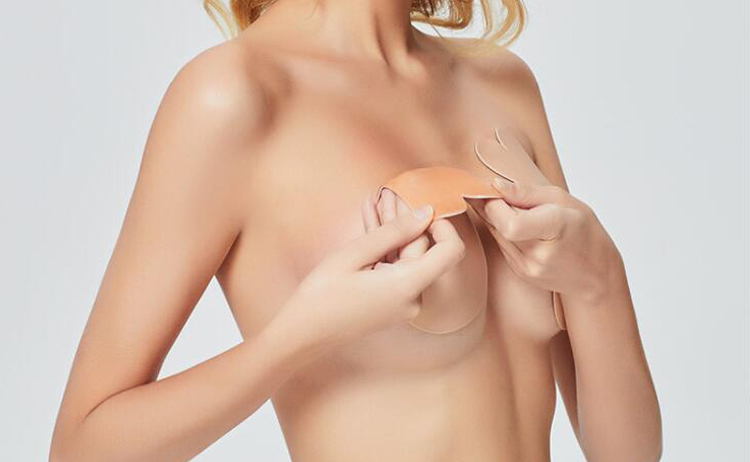 Rabbit ear shape Lift and pull Invisible Pasties Silicone Breast Nipple Cover for Women nipple cover breast lift tape