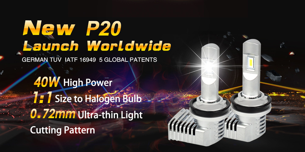 Breakthrough 18000 lumens Zhengyuan P18 xenon h4 led head lamp 9005 led h7 headlight