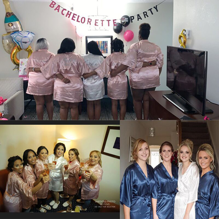 C&fung Personalized Bridal Party Robe Bridesmaids Bride Tribe Robe Bridal Shower