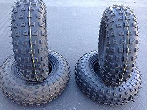 4 UNILLII low profile tire145/70-6 Sport ATV & Offroad go kart tires FOUR (4) TIRES