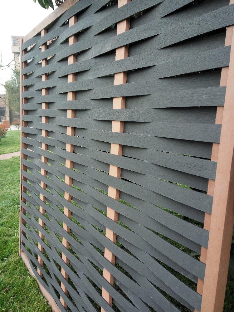 Anti uv antisettico esterno wpc scherma stile dell 39 europa - Recinzione giardino privacy ...