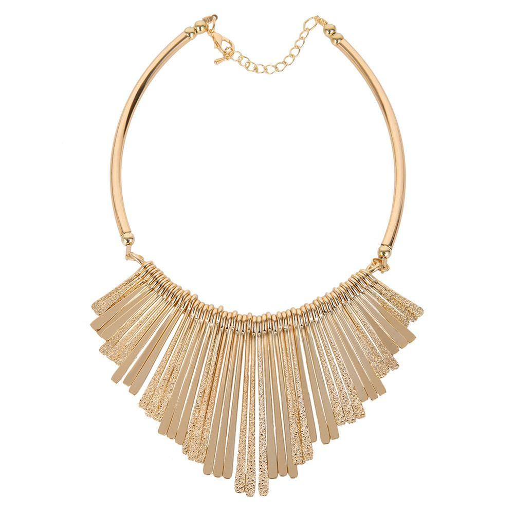 XL20 A lot of strip of copper material necklace, gold-plated jewelry