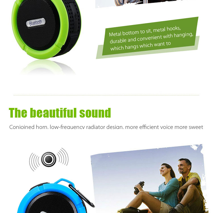 Portable Bluetooth Waterproof Wireless Speaker with Bluetooth Receiver
