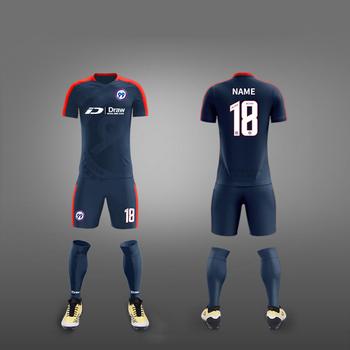 Diseño de logotipo personalizado conjunto completo barato Kit fútbol  uniforme OEM nuevo modelo sublimación fútbol b017132912f00
