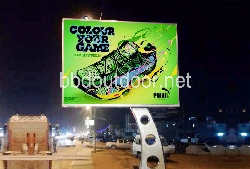 High quality solid city street outdoor lights arc pole advertising billboards