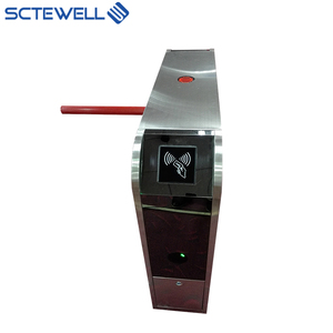 Semi automatic Access Control 304 Stainless Steel RFID Card Reader Fingerprint Tripod Turnstile