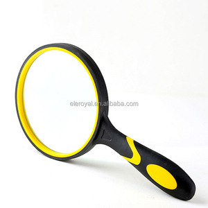 Professional Magnifying Glass 3.95 Inch Large 3X Handheld Magnifier with Non-slip Soft Rubber Handle for Observation