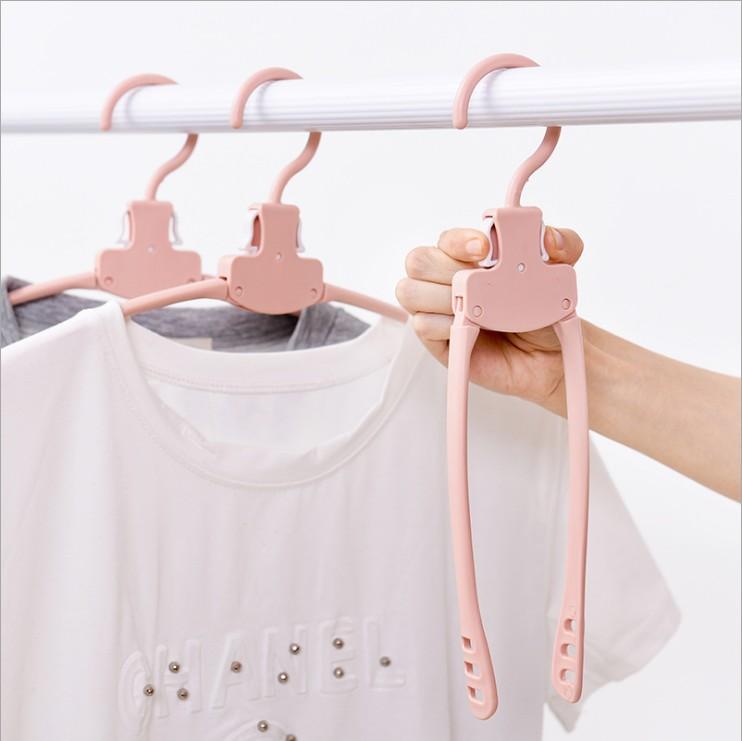 2017neues Produkt Multifunktions-Kleiderbügel aus Kunststoff zum Falten, magische Kleiderbügel