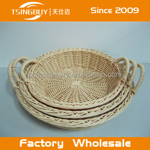 round type hollow PP rattan basket - High Quality Pp Rattan Tray Basket
