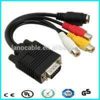 For tv monitor projector rca female to vga cable
