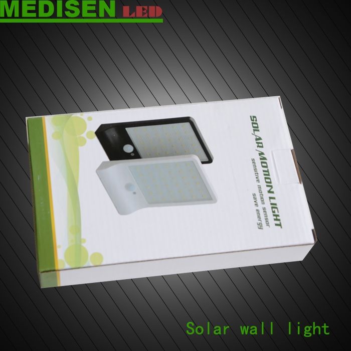 MEDISEN Solar light 1600mA battery rechargeable motion sensor warm/cool white solar pir light panel for outdoor garden